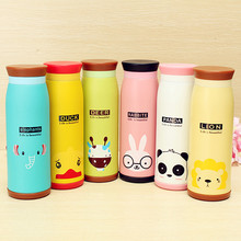 New Arrival 500ml Colourful Cute Cartoon Animal Kid Vacuum Flasks Thermoses Insulated Mug Milk Water Tea Cup Traveling