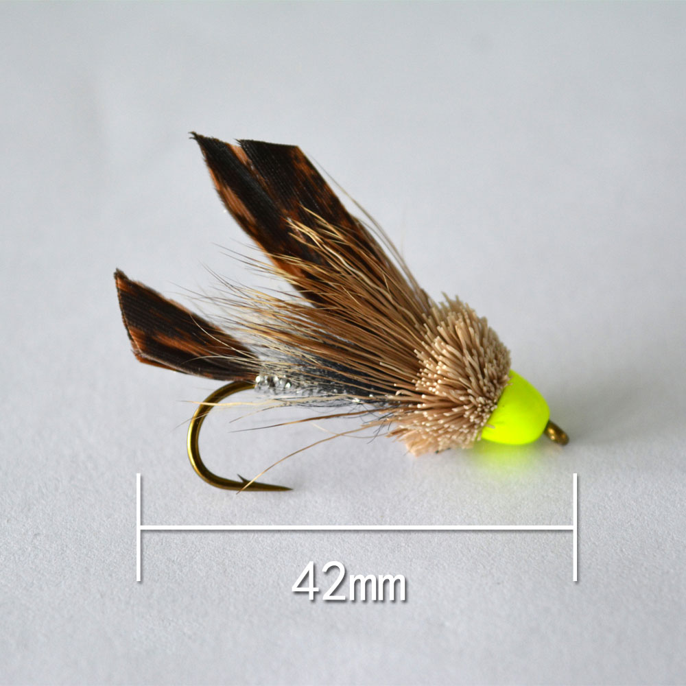 5pcs JR0004 Style Insect Fly Fishing Lure Artificial Fishing Bait Feather Single Treble Hooks Carp Fish Lure Water surface(China (Mainland))