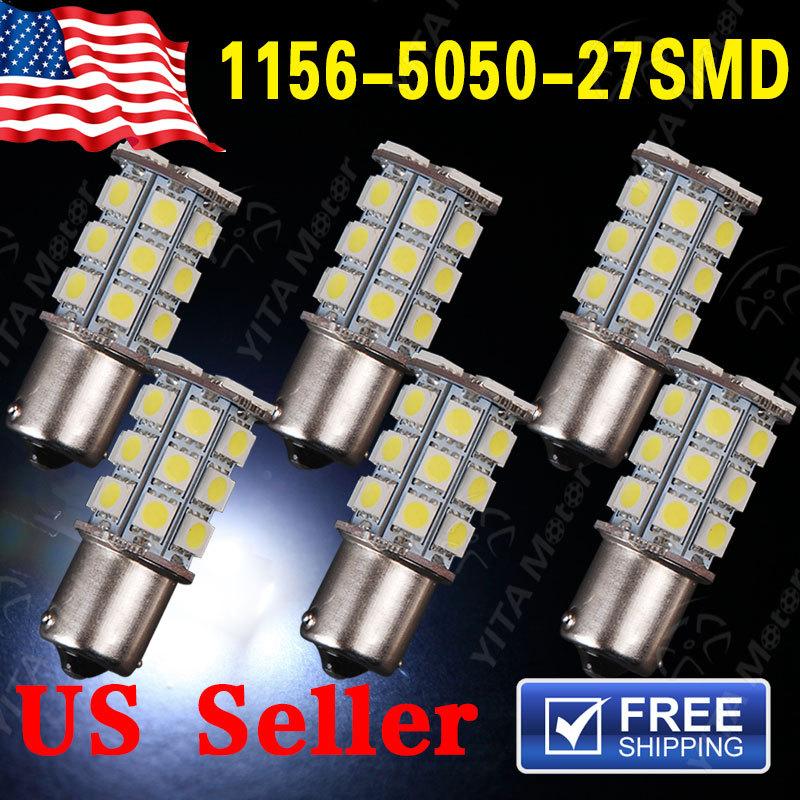 Free Shipping Car led Lights 6pcs /lot Car-styling1156 BA15S 27-SMD LED Light Lights Bulbs Tail Backup RV 1141 1073 Hot Lamps(China (Mainland))