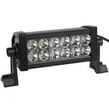 LED Work Light  2520Lm 36W High-Power 12 x 3W Bead LEDs Adjustable Bracket Offroad Bar Lamp Spotlight Or Floodlight(China (Mainland))
