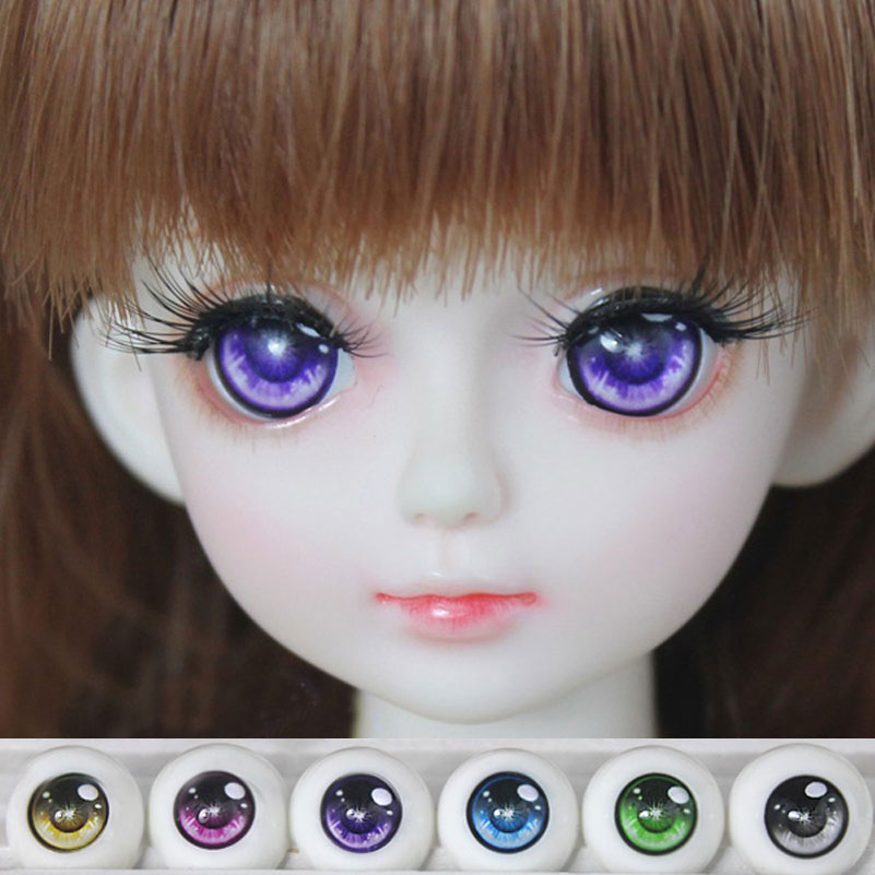 BJD SD Safety Doll Eyes For Cartoon Doll Accessories 1 Pair 1/3 1/4 1/6 14mm 16mm 18mm Acrylic Eyeball Eyes Toys For Girl(China (Mainland))