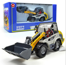 2014 New KDW 1:50 Diecast Alloy Engineering Forklift Cars Brinquedos Miniature Model Metal Truck Vehicle Kids Boys Toys