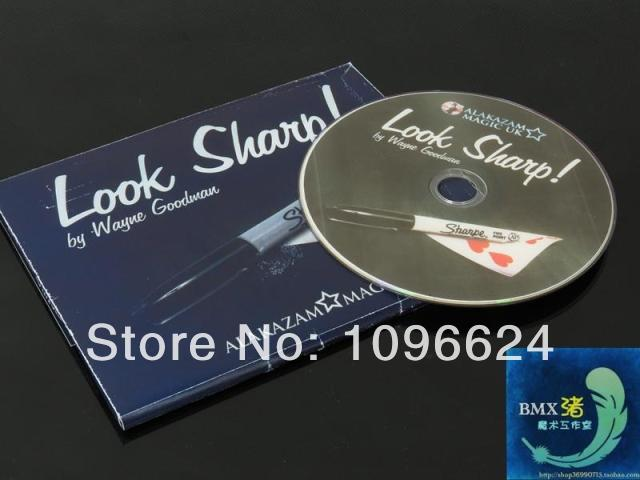 Look Sharp ,DVD+gimmick,,stage magic props/accessories,card mental stage close up magic tricks,(China (Mainland))