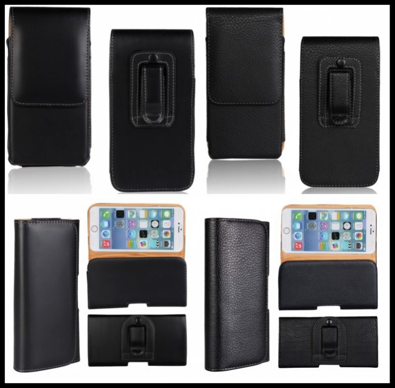 Belt Clip Holster Pouch Case For iPhone 3GS 4 4S 5 5S 5C SE 6 6S Plus Universal Leather Pouch Mobile Phone Accessory Bag Cover(China (Mainland))