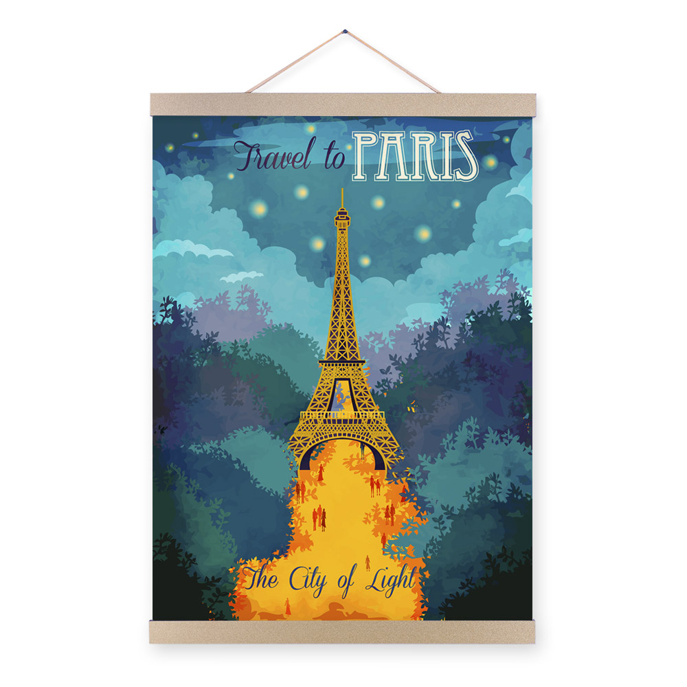 City Paris Eiffel Tower Modern Inspirational Quotes A3 Travel Poster Prints Abstract Canvas Painting Bedroom Wall Art Decor Gift(China (Mainland))