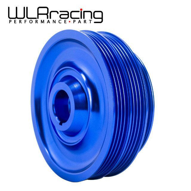 WLR STORE Lightweight Crank Pulley For Honda B16 B18 Engine Civic Accord Blue