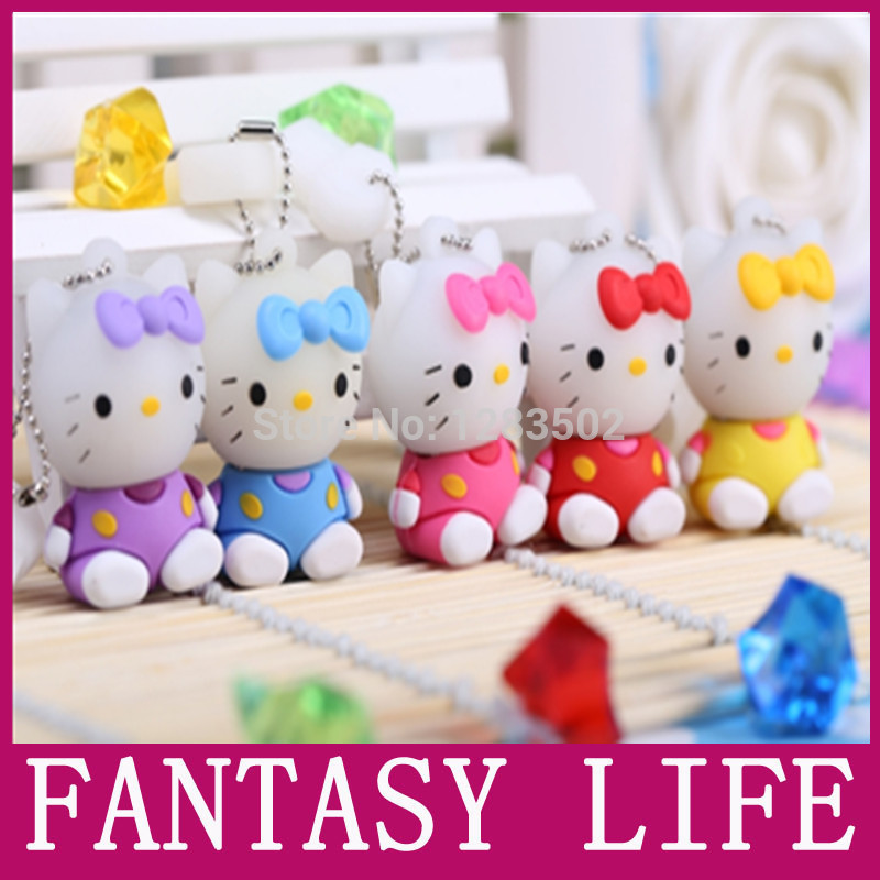 usb flash drive 64GB 4GB 8GB 16GB pen drive 32GB hello kitty special lovely creative pendrive U disk memory disk flash card(China (Mainland))
