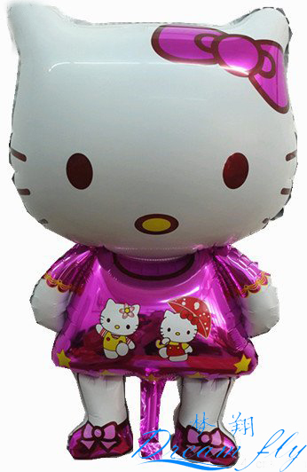50pcs/lot big hello kitty shape balloon small children toy balloon heluim balloon(China (Mainland))