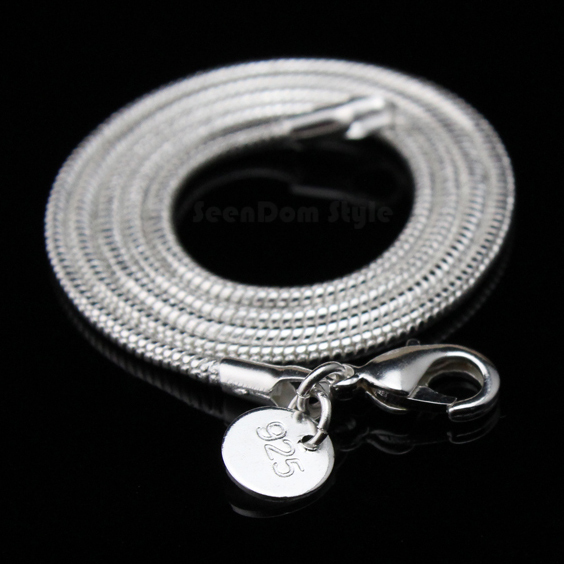PROMOTION 1PC ONLY 925 Silver 3MM Snake Chain For European Beads Charms DIY Necklace Length 20''(China (Mainland))