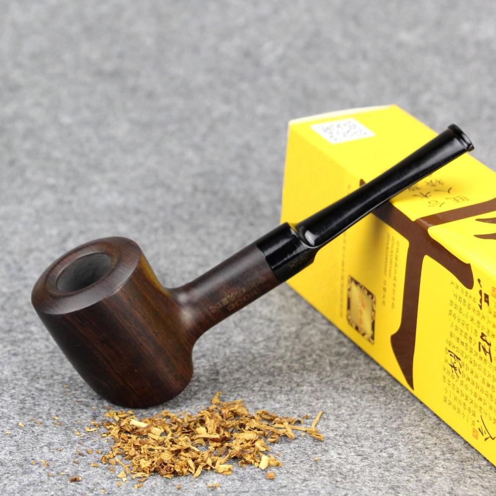 Gift Set Smoke Pipe 16cm Long Smoking Pipe 9mm Filter Sandal Wood Pipe Straight Tobacco Pipe HW-900K(China (Mainland))