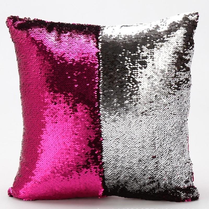 New Design Cushion Cover Reversible Sequin Mermaid Sequin Pillows Magical Color Changing Throw Pillows Home Decor Pillowcase
