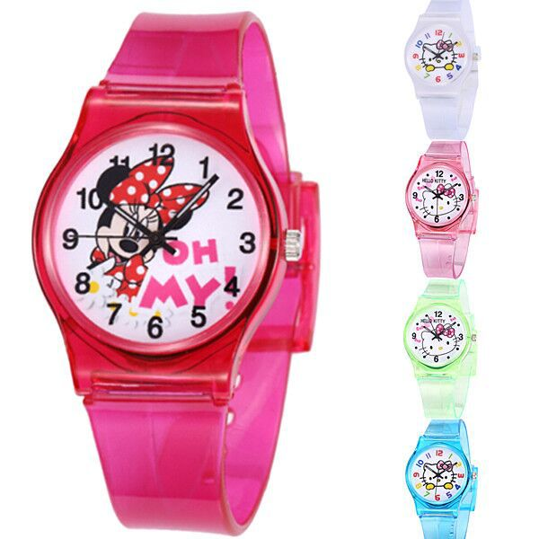 50M Waterproof On Sale Fashion Hello Kitty Brand Cartoon Watch Children Mickey Sports Watches Kids Casual Watch Clock Relojes()