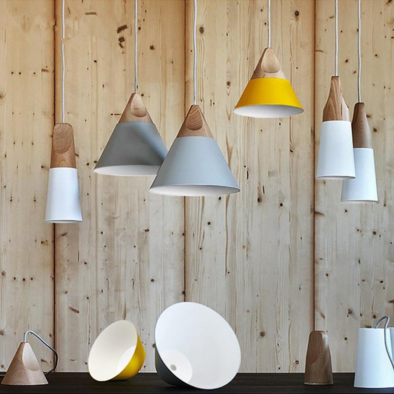 2016 modern lights pendant natural wooden lamp lighting for Natural wood chandelier