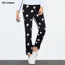 Othermix 2016  new stars printed drawstring streets was thin leisure feet trousers(China (Mainland))