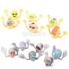 12x Fright Ghost Head Plastic Finger Puppets Party Toys(China (Mainland))