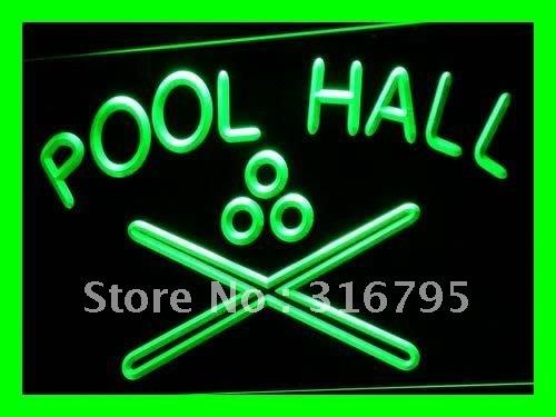 i589-g Pool Hall Billiards Snooker Bar LED Neon Light Sign(China (Mainland))