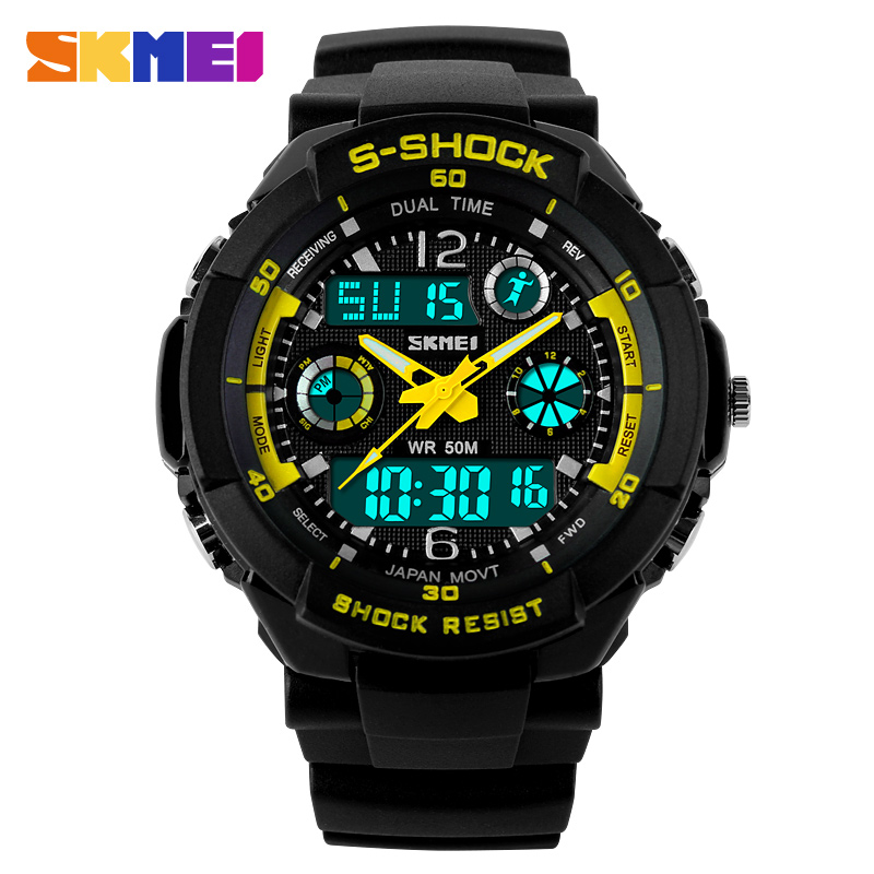 Skmei Sports Watches Fashion Casual Quartz Digital Watch Men Wristwatches Relogios Masculinos Men's Military Wrist watches - Tesco Electronic Commerce co., LTD store