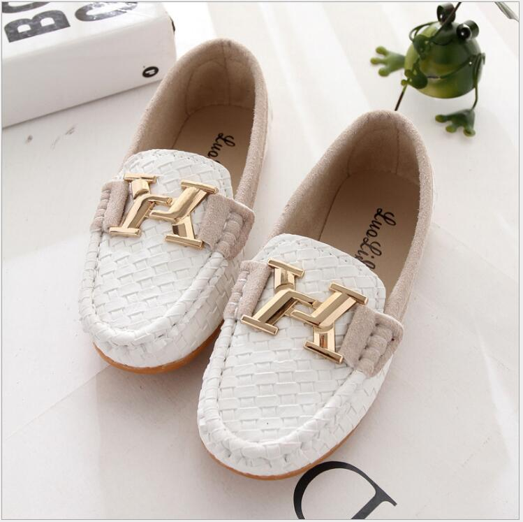 Children Casual Shoes 2016 Spring Boys Girls Fashion Sneakers Kids Loafers Sport Leather Moccasins Slip On Baby Flats