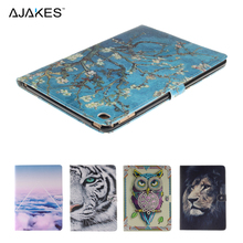 High Quality Fashion Printed Flip Stand PU Leather Case Cover w/Card Holder For iPad Air 2 iPad 6 Case Cover w/Stylus Pen(China (Mainland))