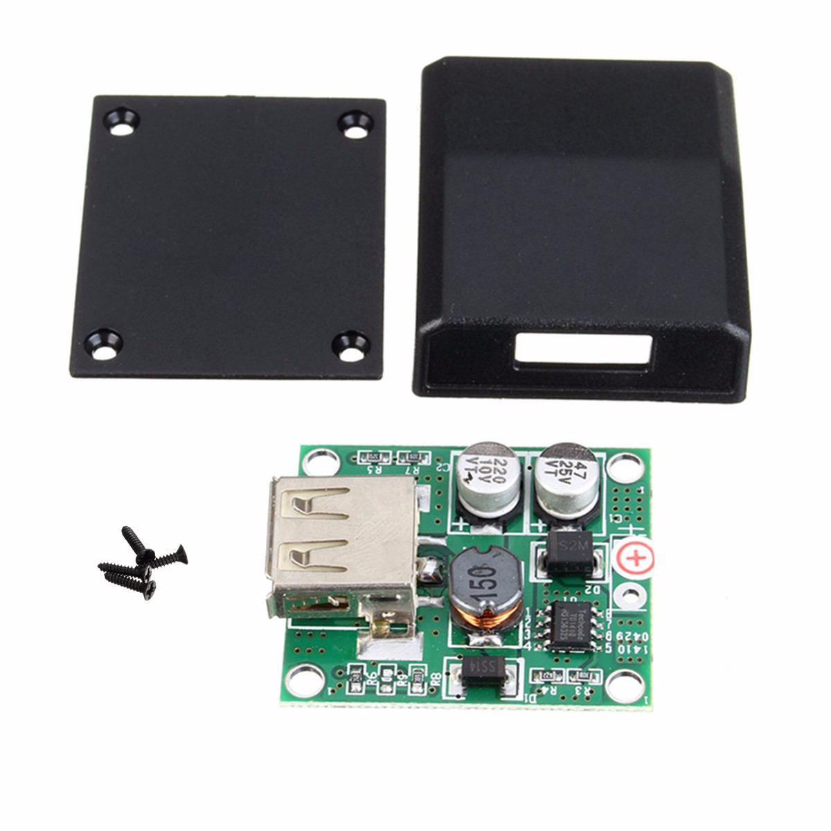 High Conversion Efficient USB Junction Box Solar Panel Micro USB Voltage Controller Converter Regulator for Charger 5V-18V to 2A(China (Mainland))