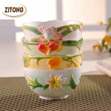 High-grade Enamel Porcelain Tableware Ceramic Bowls Free Shipping(China (Mainland))