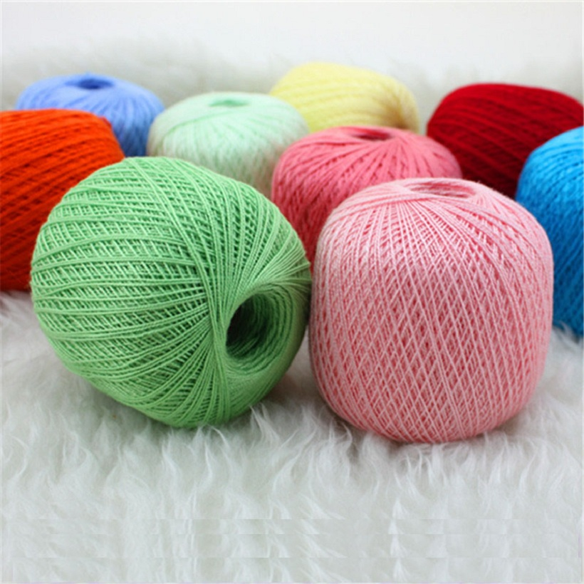 Cotton Yarn For Crochet Thin Lace Crochet Yarns For Hand-knitting Yarn ...