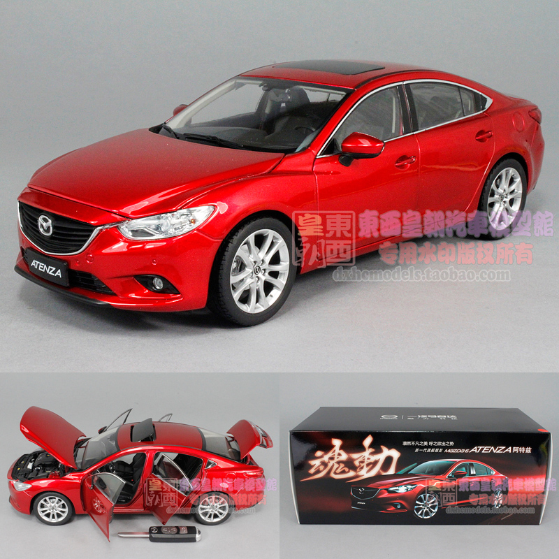 The original 1:18 2014 FAW Mazda 6 atezi ATENZA soul red alloy model car(China (Mainland))