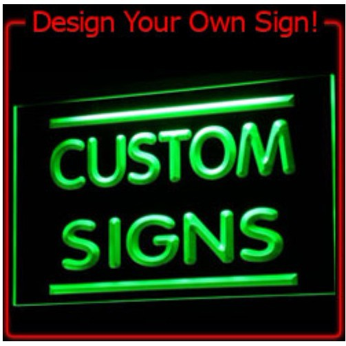 On/Off switch 7 Colors 2 Sizes Custom Neon Signs Design Your Own LED Neon Signs LED Signs Edge Lit Bar open Dropshipping DHL(China (Mainland))