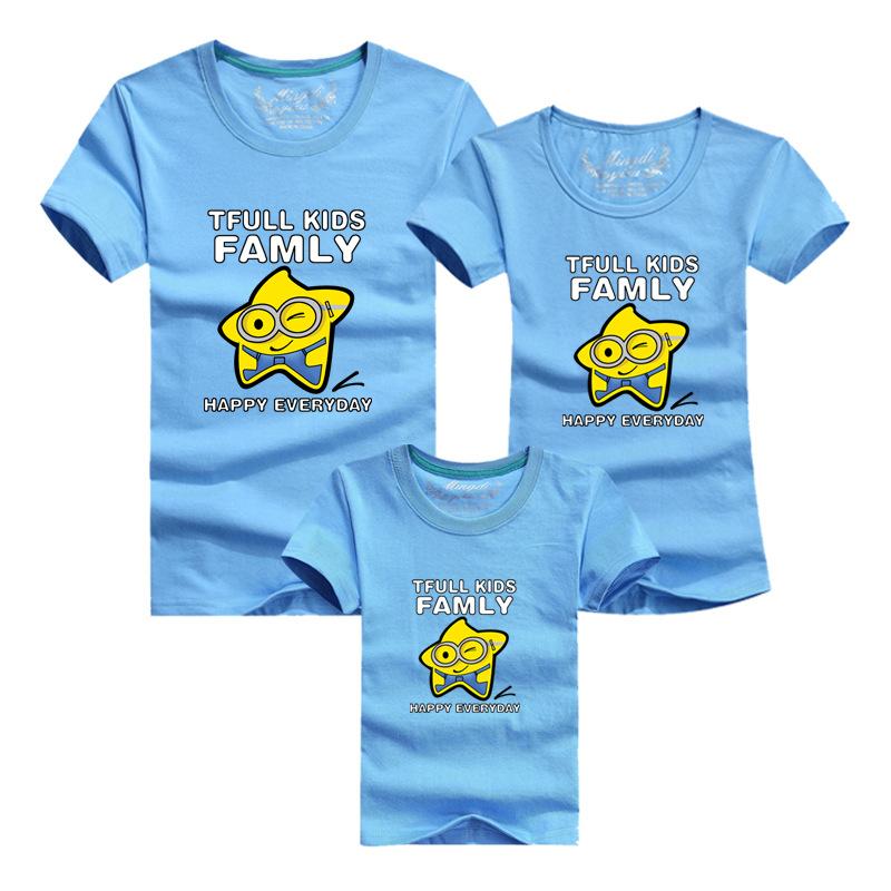2016 Summer Cotton Short Sleeve Tshirt font b Family b font font b Matching b font