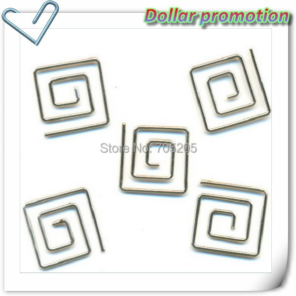 Free shipping !100pcs/lot small metal square paper clips sliver paper clips <br><br>Aliexpress
