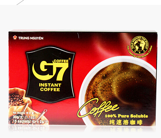 No sugar Slimming coffee for weight loss 2g 15sachets Vietnam G7 Black Coffee