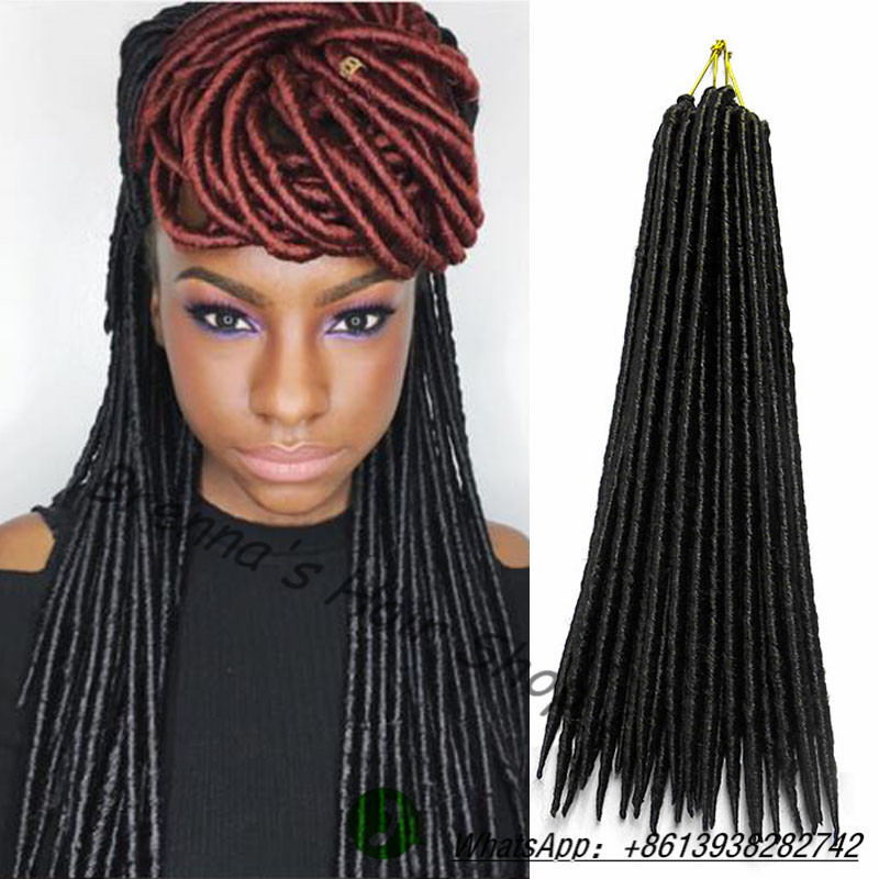 14 dreadlocks hair crochet braids dreadlock extensions black braid ...