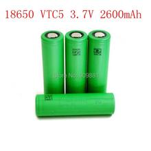 New 10pcs/lot 3.7V 2600mAh 30A US18650 VTC5 Rechargeable Li-on 18650 Battery 1:1 for Sony Fit E-Cigarette Mod LED Torch Camera(China (Mainland))