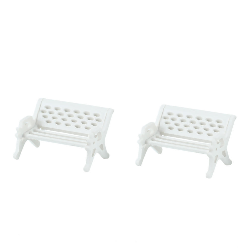 DIY Accessories Plastic Craft Miniature Artificial Mini White Bench Chair Micro World Landscaping Decorative HG02735 S02(China (Mainland))