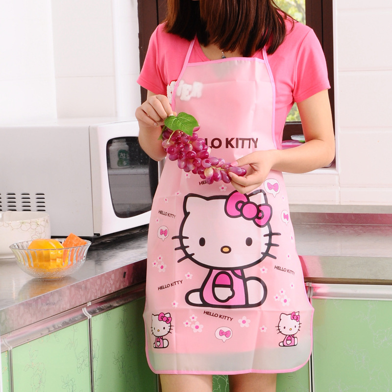 Hello Kitty Waterproof Apron Kitchen Women Kids Novelty Children Aprons(China (Mainland))