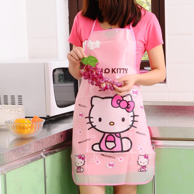 Hello Kitty Waterproof Apron Kitchen Women Kids Novelty Children Aprons(China (Mainland))