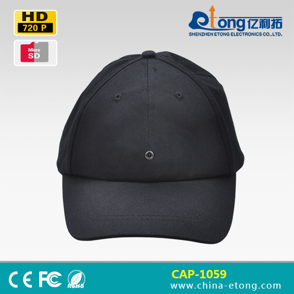 Free shipping! 720p hd baseball cap mini camera with DVR recorder and moition activated DVR with 32GB Micro SD Card Support(China (Mainland))