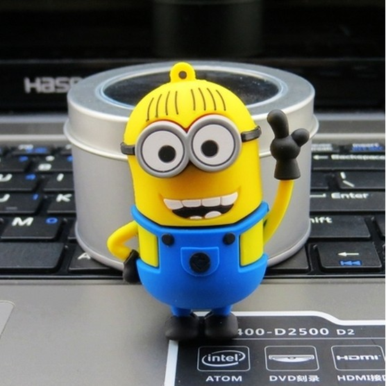 100% real capacity Genuine memory stick novelty lovely minions 4GB 8GB 16GB 32GBusb flash drives pen drives 25% off N1(China (Mainland))