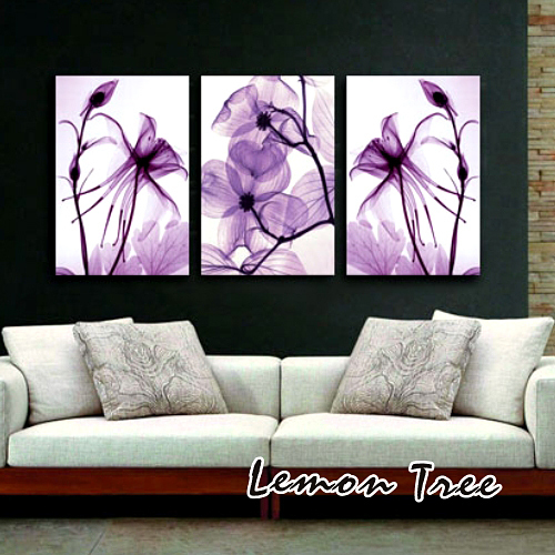 Purple memory decoration picture modern wall oil painting for Wall stickers decor modern