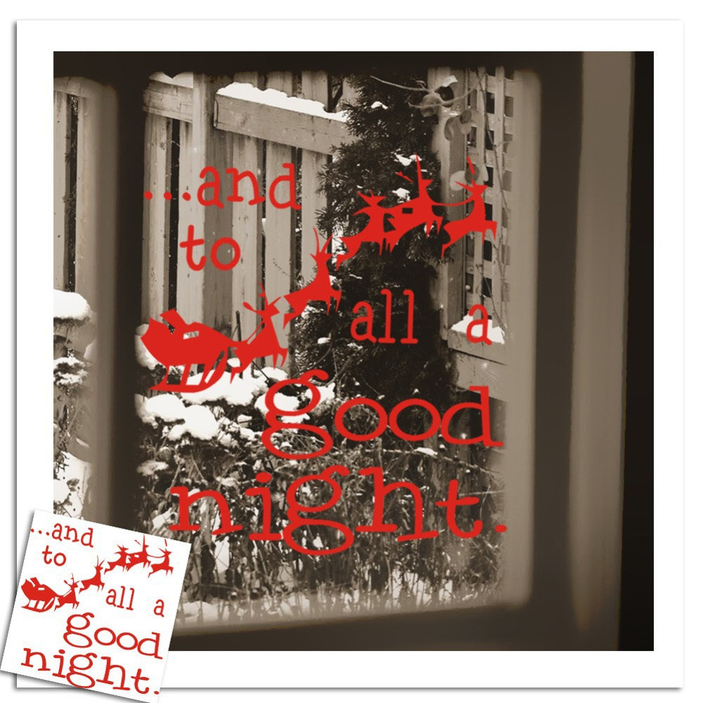 Santa Claus All A Good Night Christmas Wall Decor Glass Stickers Removable Wall Decals For Living Room Wallpaper Mural Kids(China (Mainland))