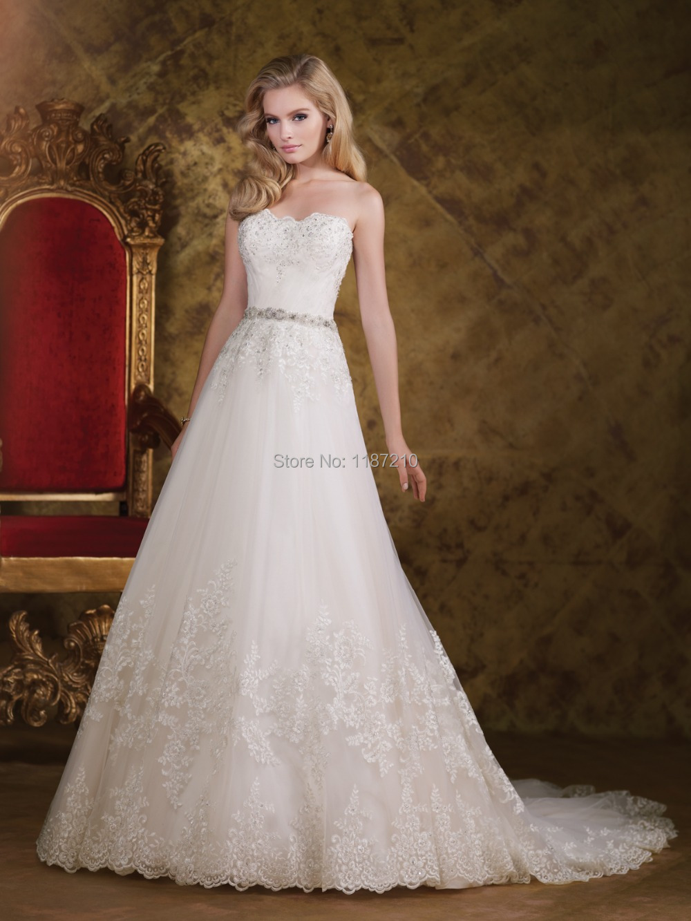 2015 simple a line long train wedding dresses with sexy for Lace wedding dress with long train