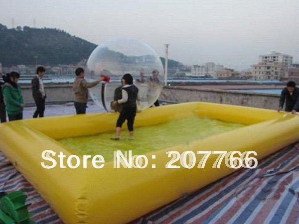 inflatable pool 4m x 6m including 2pcs pvc water walking. Black Bedroom Furniture Sets. Home Design Ideas