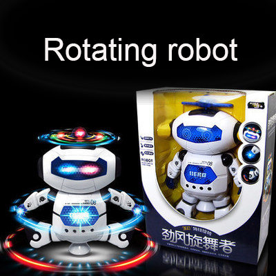 Space Dance Electric Toy Robot Rotate 360 Degrees With LIght and Music 1 Set 2016 New <br><br>Aliexpress
