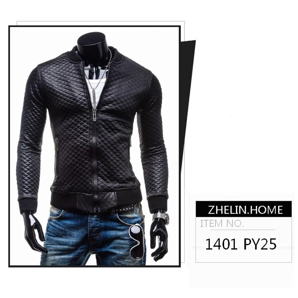 Новая мода slim мужчины мотоцикла куртка o шея ребра рукава папка хлопок утолщенной жесткой мышечной линии искусственной кожи menwear