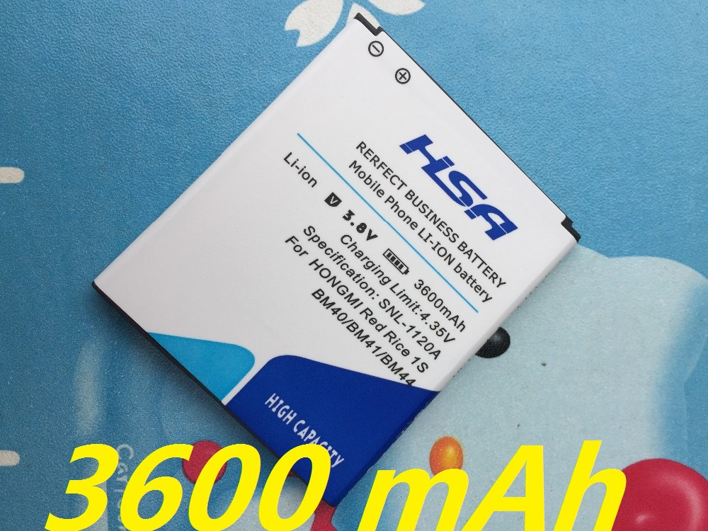 "New Arrivals 3600mAh BM40/BM41/BM44 Battery Batterie Batterij Bateria for Xiaomi 2A Mi2A/Xiaomi Hongmi Red Rice 1S 4.7""/Redmi 2"