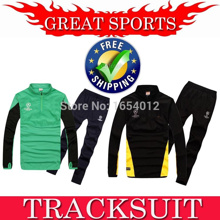 TOP MESSI Neymar JR SUAREZ A INIESTA Champion League Training Suit Tracksuit Long Sleeve Sportswear Clothing Football Jacket(China (Mainland))