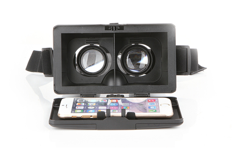 Head Mount ABS Helmet for 3 5 6 inch Smartphone Polarized 3D Glasses View Cardboard Mirror