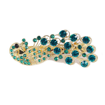 Min. order 12 pieces mix available,Elegant peacock hair clip,9102.3606.Free shipping
