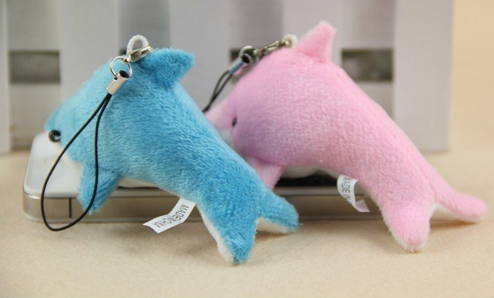 Plush Stuffed TOY Cute Mini 6CM Dolphin DOLL Cell Mobile Phone Charm Strap BAG Lanyard Pendant TOY Wedding Gift Bouquet TOY DOLL(China (Mainland))