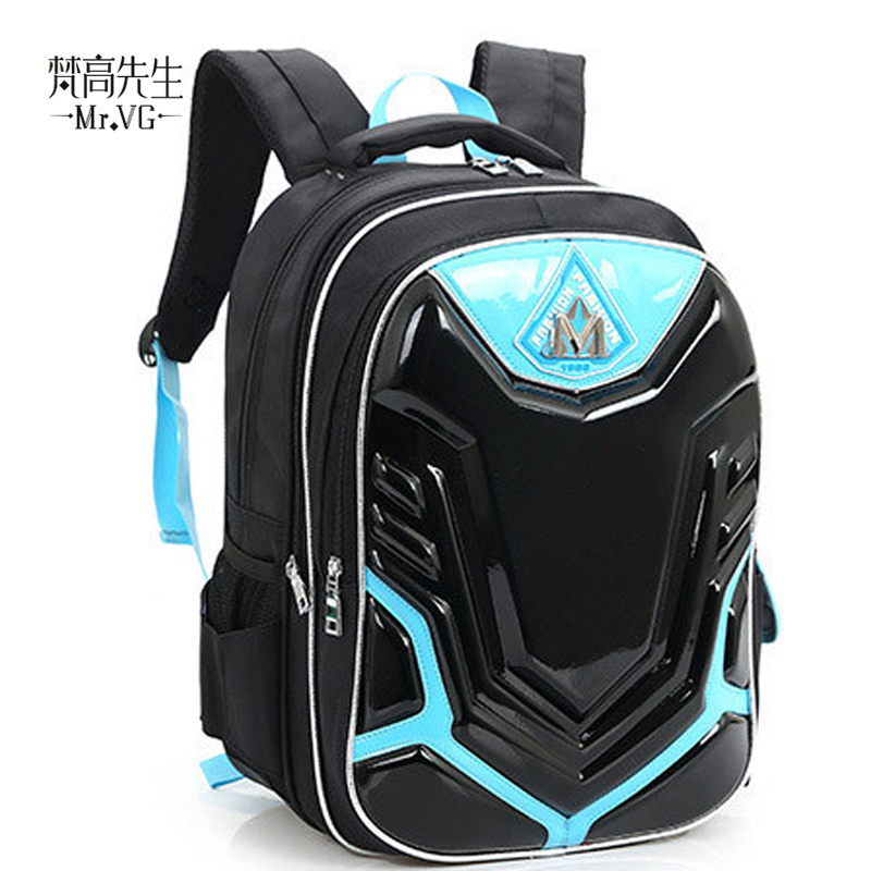 H101W 2015 high quality school bags mochila boys 3d printing backpacks kids orthopedic schoolbag cool backpacks schoolbags(China (Mainland))